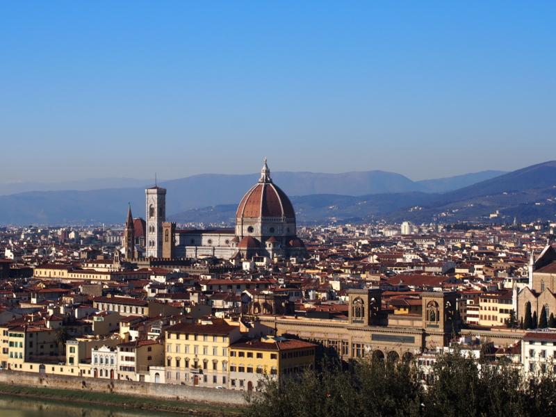 ミケランジェロ広場からのフィレンツェの街並み