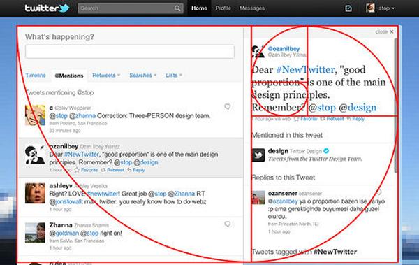 黄金比に基づいた、新しいTwitterのデザイン